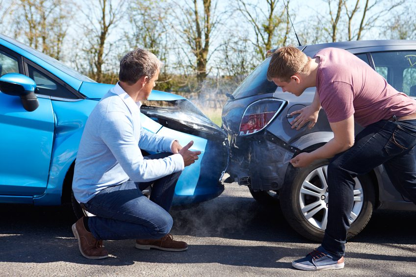 Type of soft tissue injuries caused by a car accident